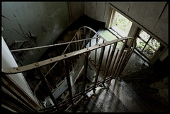 Side-stairs Nocton Hall hospital remains (Lplatebigcheese) Tags: abandoned hospital ruins decay lincolnshire derelict decaying urbex vandalised militaryhospital nocton noctonhall rafhospital