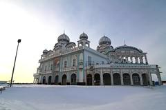 Sikh Temple (kcezary) Tags: winter sunset canada canon temple edmonton tokina1224 alberta 12mm cpl circularpolarizer f63     tokina1224mm sikhtemple canondigitalrebelxti tokinaatx1224mmf4 architecturalbeauty explorecanada