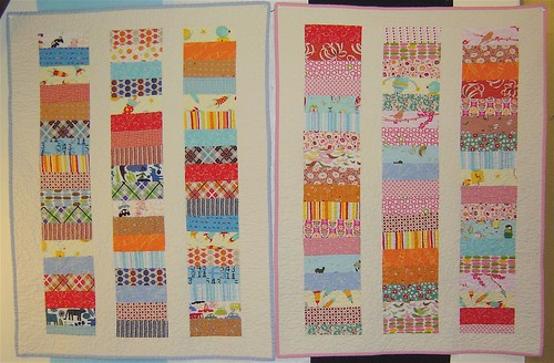 Two Baby Coin Quilts