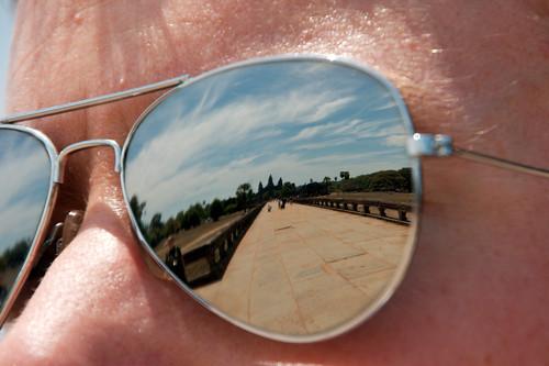 Angkor Wat reflected in my sunglasses
