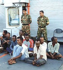 Somalis under French military detention for alleged role in piracy. The French and the United States are targeting Somalis in the Gulf of Aden and the Indian Ocean. by Pan-African News Wire File Photos