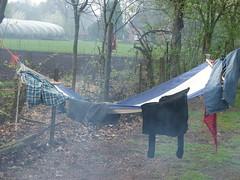 smoked clothing (alibobar) Tags: camping fujis5500 sevenum bergerhof prilpop