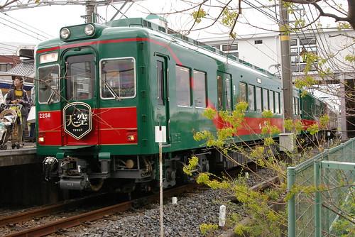 Nankai2200series(TENKUU) in Shirasagi,Sakai,Osaka,Japan 2009/4/26
