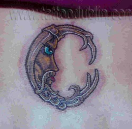 moon tattoo designs. New moon tattoo tattoo design