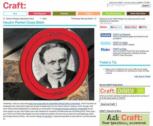Houdini featured in CRAFT!