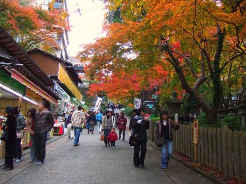 談山神社参道のようす