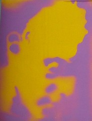face (yello on lilac) (jk.1971) Tags: streetart graffiti glasgow stickers 230409