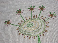 tree (a n a ) Tags: tree linen embroidery craft wip inprogress handmaded