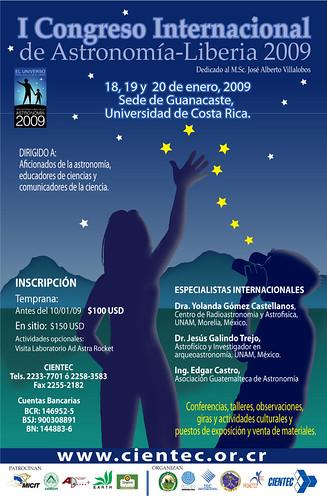 Afiche Congreso Intl. de Astronomia- Liberia 2009