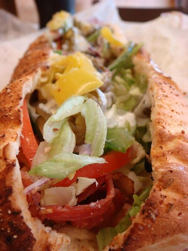 A delicious footlong sub from Subway...