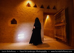 Saudi Arabia - Mysterious Woman in Masmak fort in Riyadh ( Lucie Debelkova / www.luciedebelkova.com) Tags: old city travel people woman house building tower castle heritage history wall museum architecture asian person town construction sand ancient asia desert mud fort muslim traditional extreme capital masonry middleeast hijab kingdom landmark center palace medieval arabic east indoors clay heat saudi arabia sultry sight preserved middle orient fortification niqab exploration protection abaya fortress riyadh saudiarabia battlement gcc moslem masmak castellated arabie embattled castled rhiad luciedebelkova qasralmasmak saudska wwwluciedebelkovacom