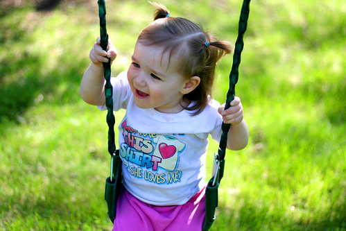 Miss M on the swing