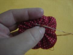 PAP - Fuxico flor pétala aberta 8 (Minhas Crias) Tags: flores artesanato fuxico pap tecido retalho trabalhosmanuais passoapasso floraberta