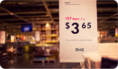 The Bokeh Superstore (isayx3) Tags: blue ikea colors sign yellow price 35mm vintage store nikon flickr bokeh swedish type f2 365 nikkor tones d3 superstore plainjoe isayx3