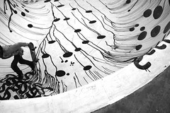 Stapelbäddsparken skatepark, art by David Shrigley (Anders Hansen) Tags: david art concrete skåne graphics artist sweden decoration balckandwhite skatepark shrigley skateboard sverige malmö stapelbäddsparken