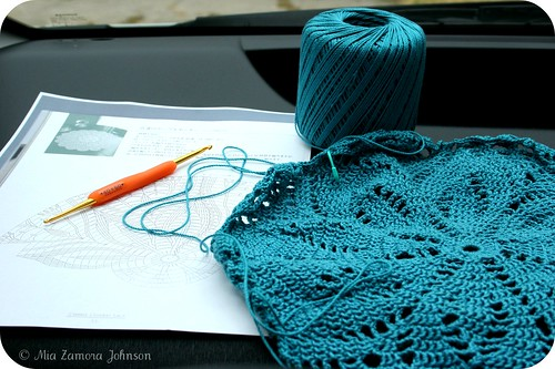 Blue doily