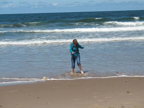 Me jumping in the waves