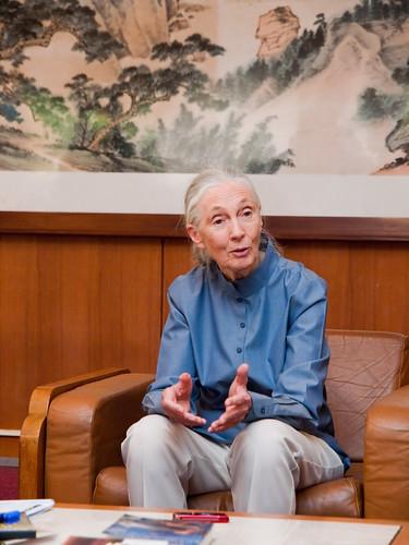 Dr. Jane Goodall Meeting Taipei European School Students 珍古德博士會見台北歐洲學校學生