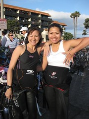 With Pam showing off Race numbers