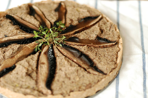 Mushroom Leek and White Bean Pie