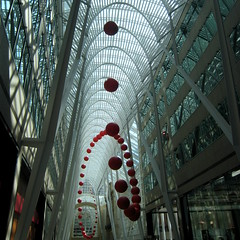 Calatrava meets Luminato (swisscan) Tags: light toronto building art architecture office steel calatrava bce luminato