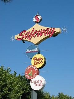 Safeway Futurama Bowl Googie sign, San Jose