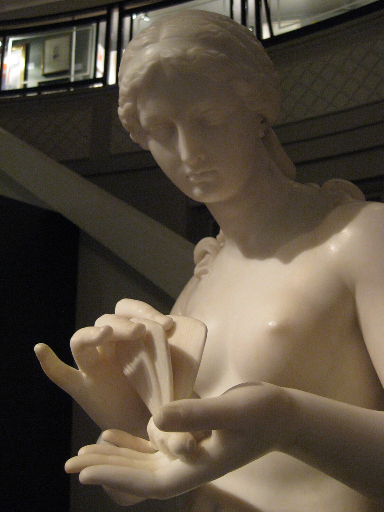 Edward Hodges Baily (English, 1788-1867) Psyche (c. 1850) White marble. Robert Brown Galleries, London. (Detail)