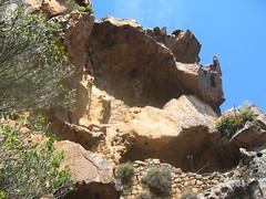 Visite des ruines du chemin de ronde du Castellu