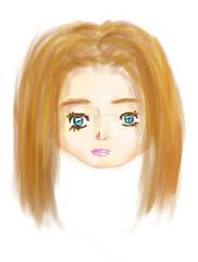 لوحة اليوم (alferas9kuw) Tags: color girl pen photoshop sketch paint optical coloring draw tablet sai tool بنت كمبيوتر رسم فوتوشوب اشقر بينت شقرا تلوين تول alferas9kuw ساي