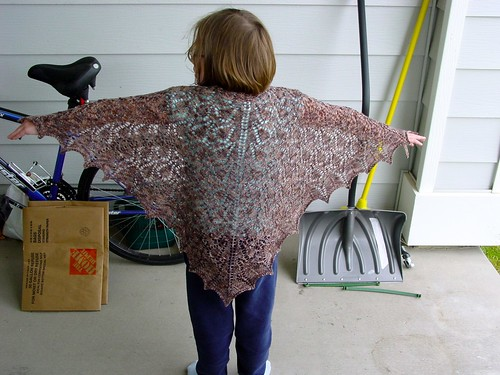 Raindrops Shawl Sample
