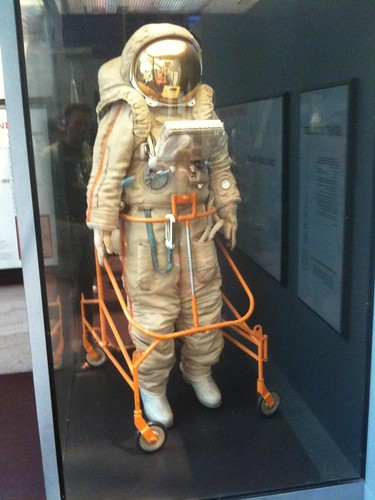 The designed but never used Soviet cosmonaut moon suit