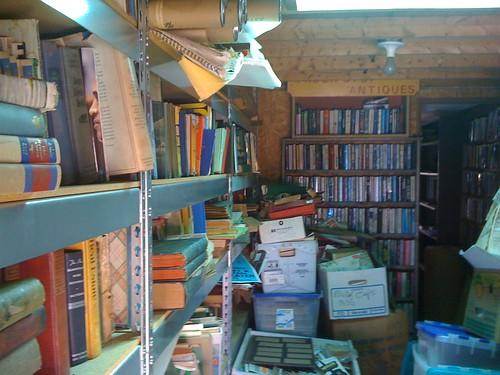 a trailer full of books