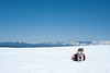 Mountain Dogs #4 (Amicus Telemarkorum) Tags: california sky dog snow mountains spring skiing siberianhusky zen backcountry mtrose bensonhut sierracrest keltydogbackpack