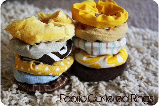 Fabric Covered Baby Rings