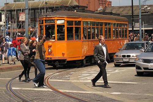 Heritage street car of SFO