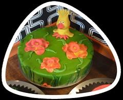 Frühlingstorte (Tortenwahn) Tags: blumen marzipan blume kuchen torte fondant gebäck küken süs buttercreme motivtorte tortenwahn mottotorte mottotorten