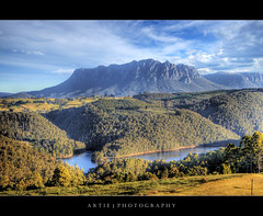 Mount Roland, Wilmot, Tasmania :: HDR (:: Artie | Photography :: Offline for 3 Months) Tags: sky cloud mountain nature clouds photoshop canon river landscape landscapes kitlens valley vegetation tasmania handheld 1855mm hobart wilmot efs hdr artie mountroland cs3 3xp photomatix tonemapping tonemap 400d rebelxti