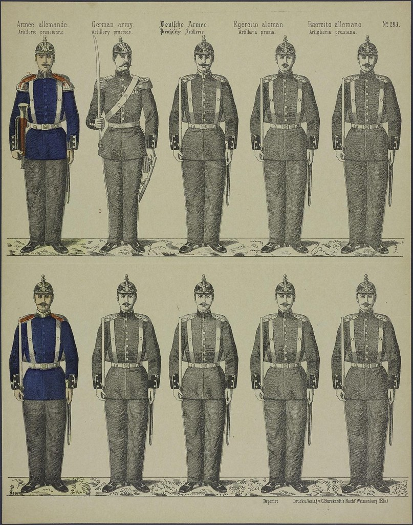 Armée allemande by C Burckardt 1889-1945