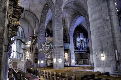 Visby Cathedral interior. Interior de la Catedral del Visby.