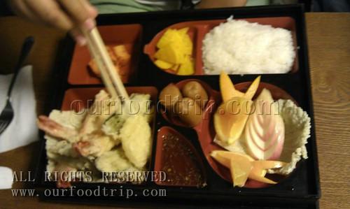 RK Hotel's tempura bento