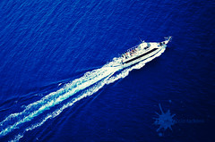 crossing deep blue sea (Ciccio Taddeo ) Tags: blue sea italy nikon ship trail sicily mediterraneansea marettimo d5000 aegadianislands mygearandme