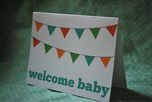 welcome baby shower card