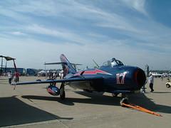 MiG-17 2005 (f//stop) Tags: blue red circle peace air rip jet round 17 rest pilot circular commander mig intake gurevich mikoyan mig17 mikoyangurevich burdine