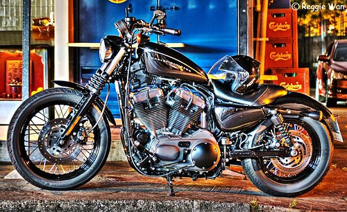 The black beauty, Harley Davidson.