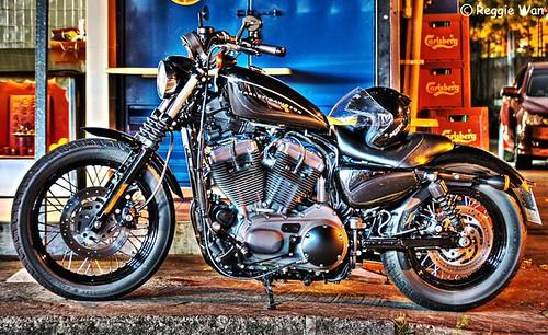 The black beauty, Harley Davidson.