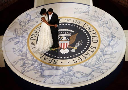 President Obama & the First Lady dance