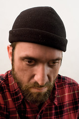 lumber (carl derrick) Tags: winter red portrait selfportrait c cap sp flannel skullcap selfie sps