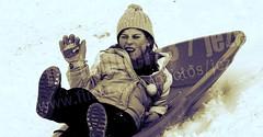 Indianapolis in Winter 2009-01-28 0212 Southeastway Snow Sledding (Badger 23 / jezevec) Tags: park pink schnee people snow children fun reki kid child indianapolis nieve sneeuw hill january slide downhill neve snowboard sledding neige sled  2009 toboggan schlitten  trineo snowtube  tren  snh  slede  sanie  southeastway    san      badger23 20090128