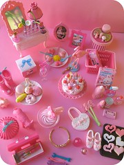 Pink Re-ment (Pinks & Needles (used to be Gigi & Big Red)) Tags: birthday pink flowers horse food rabbit bunny birdcage glass lamp cookies cake hearts dessert toys mirror pig miniature junk key cookie perfume drink chocolate flamingo mixer picture makeup straw strawberries plate spoon can tools plastic explore purse donut crown lipstick tongs rement dresser eclair aliceinwonderland toolbox hatbox rainboots