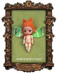 Woodlings Baby Faun Issa Butterfly (chartar_69) Tags: asianballjointeddolls charlesstephan thewoodlings charlescreaturecabinet linmurasakidesign anthroballjointeddolls woodlingsbabyfauns tinymicro8cm